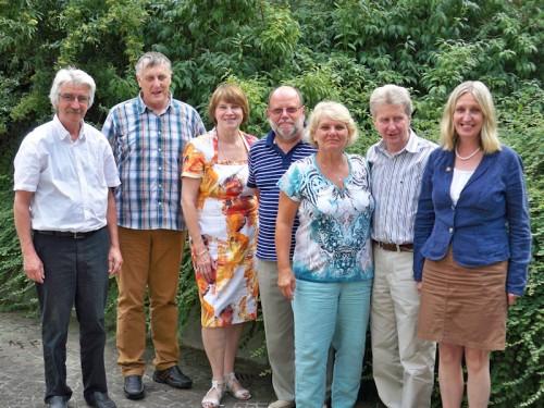 v. l. n. r. Prof. Dr. Hans-Werner Horn, Wolfgang Hamberger (Schriftführer), Marianne Vogt, Wilfried Weyl, Heidrun Schrader, Rolf Winkelmann, Marion Linder (Sprecherin).